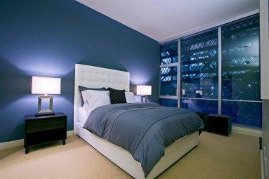 Синий цвет в спальне