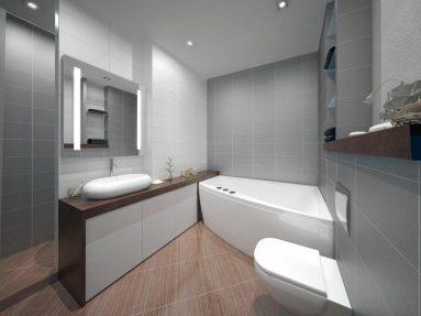 Интерьер ванной минимализм