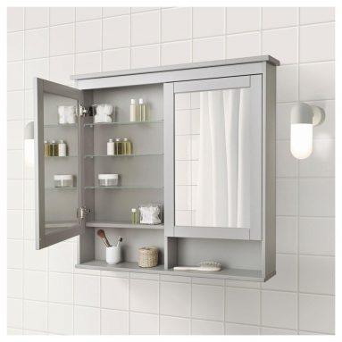 Зеркало в навесном шкафу