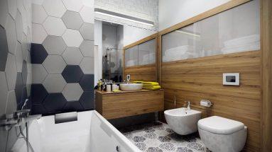 Дизайн прямоугольной комнаты в стиле модерн