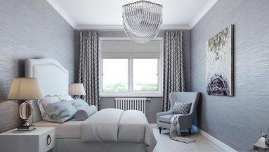 Светлая цветовая гамма в спальне