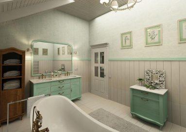 Прованс в ванной комнате