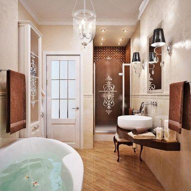 Классический стиль в ванной