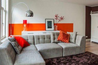 Сочетание оранжевого и серого
