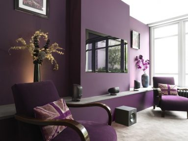 Дизайн фиолетовой комнаты