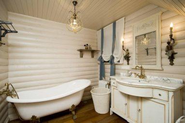 Интерьер ванной в дачном доме