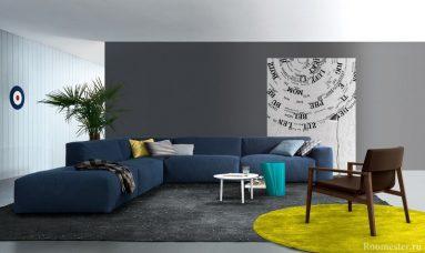 серый и синий фото