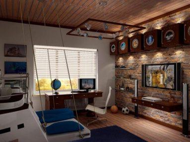 Комнате для мальчика подростка в стиле лофт