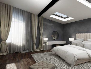 Сочетание серого цвета с другими в интерьере спальни