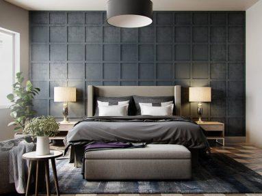 Сочетание серого в спальне
