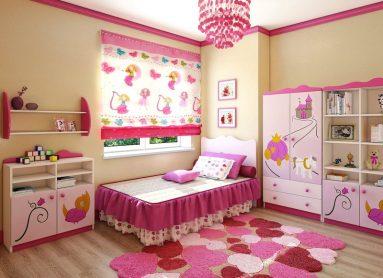 Подростковая в розовом и желтом цвете