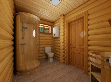 Душевая комната в бане