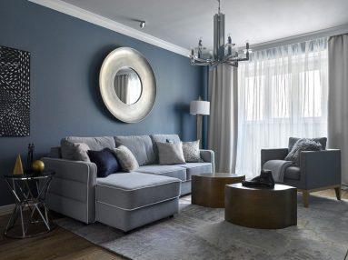 комбинация серого и синего фото