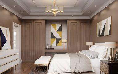 Дизайн современной спальни в светлых тонах
