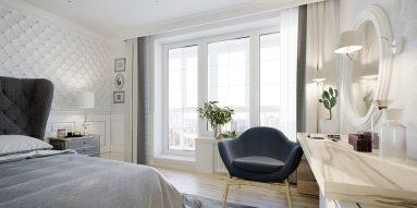 Дизайн спальни светлая мебель