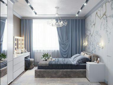 Спальня дизайн интерьера в светлых тонах