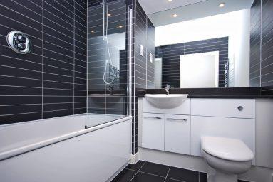 Туалет в стиле хай тек