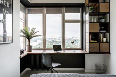 Интерьер маленького кабинета