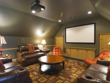 Домашний кинотеатр на чердаке