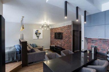 Дизайн однокомнатной квартиры 40 кв м лофт
