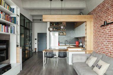 Дизайн однокомнатной квартиры 40 кв лофт