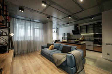 Интерьер в 40 метровой квартире лофт