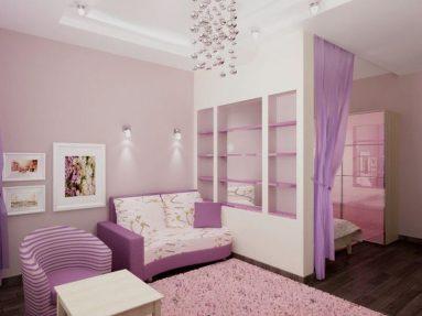 Стиль минимализм в комнате для девочки