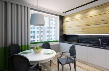 Стиль минимализм не кухне 9 кв. м