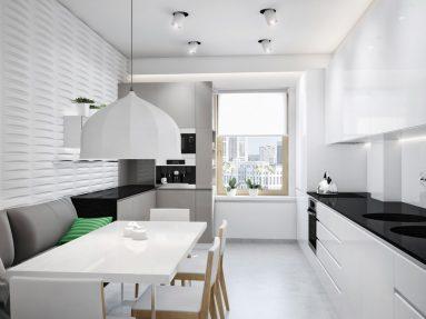 Стиль минимализм в маленькой кухне