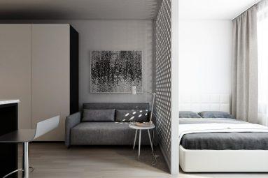 Дизайн 1 комнатной квартиры 40 кв м в стиле минимализм