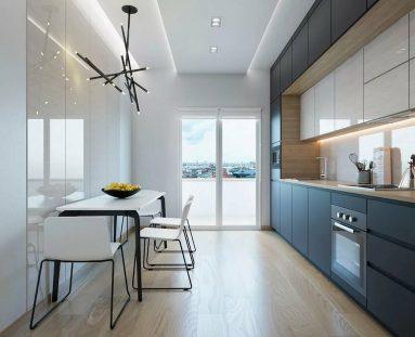 Небольшая кухня в стиле минимализм