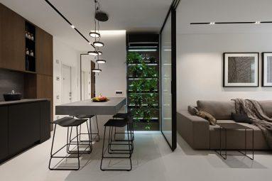 Дизайн студии 40 кв м в минимализм