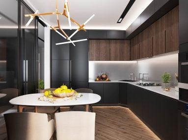 Стиль минимализм на кухне 9 квадратных метров