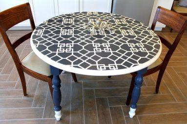 Декор стола с помощью плитки