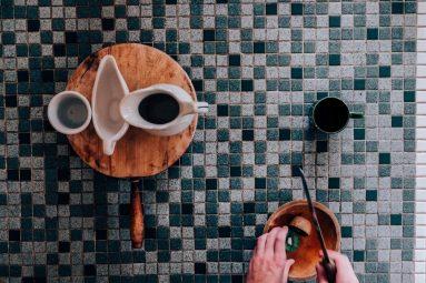 Столешница - стол из мозаики