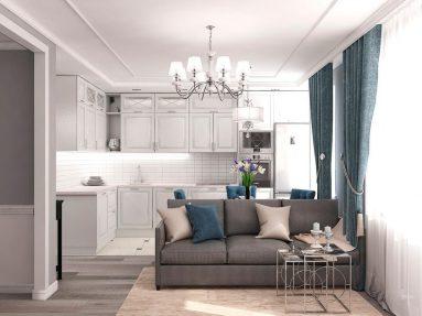 Дизайн квартиры 40 кв м в стиле неоклассика