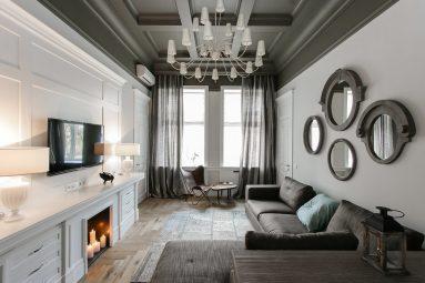 Интерьер квартиры 40 кв м в стиле неоклассика