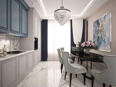 Стиль неоклассика в дизайне маленькой кухни