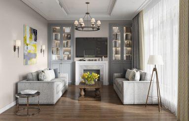 Интерьер однокомнатной квартиры 40 кв м в стиле неоклассика