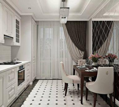 Примеры дизайна однокомнатной квартиры 40 кв м в стиле неоклассика