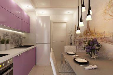 Освещение на кухне 9 кв. м