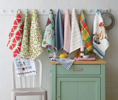 Кухонные полотенца – декор