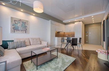 Натяжной потолок в однокомнатной квартире