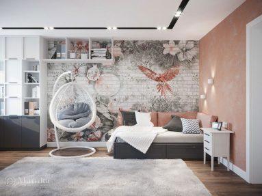 Комнате для девочки подростка в современном стиле