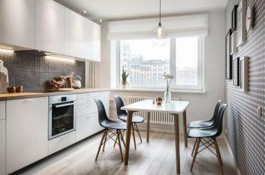 Скандинавский стиль на кухне 9 кв. м