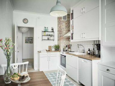 Скандинавский стиль на кухне 9 квадратных метров
