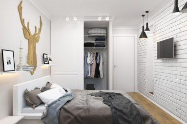 небольшой комнаты в скандинавском