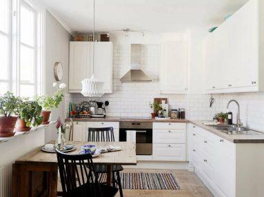 Кухня 9 кв. м в скандинавском стиле