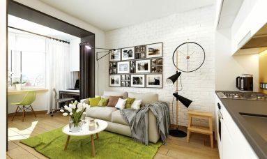Дизайн 1 комнатной квартиры 40 кв м в скандинавском стиле