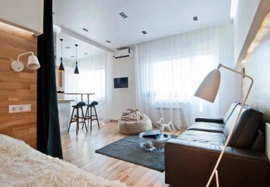 Дизайн однокомнатной квартиры 40 кв м в современном